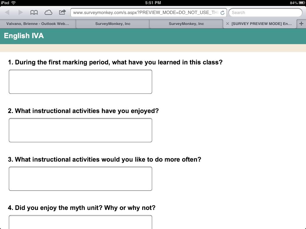 More on Student Surveys | randolph innovation