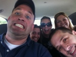 Our cab ride to ISTE selfie