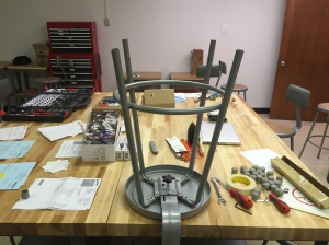 Even the stools need to be put together!